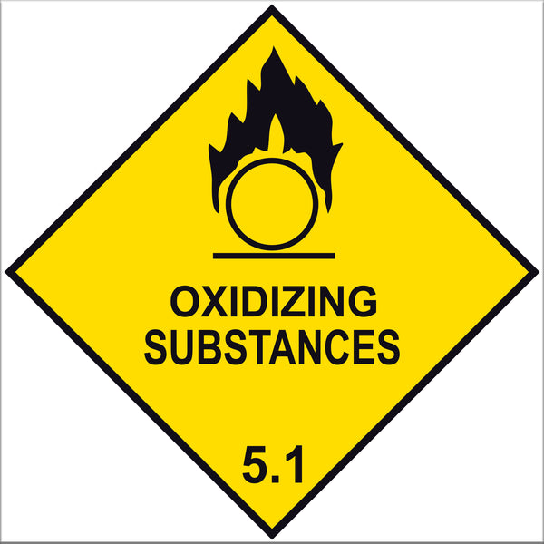 Oxidizing Substances 5.1 Label Signs - 10 Pack