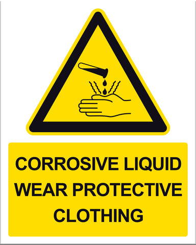 Caution Corrosive Liquid - Markit Graphics
