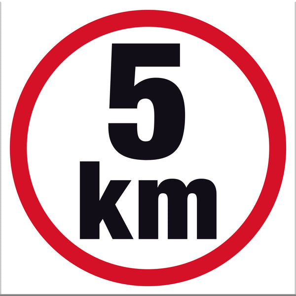 5 km Sign - Markit Graphics