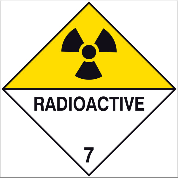 Radioactive Label Signs - 10 Pack