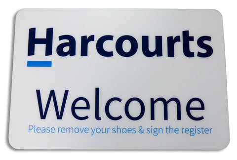Harcourts - Floor Mat - White Background - Markit Graphics