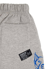 GREY EMBROIDERED SWEAT SHORT