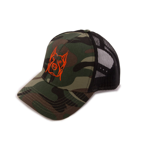 Camo Pitbull Logo Hat - No Days Off