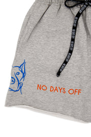 Grey Embroidered Sweatshort
