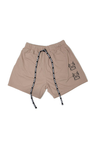 Taupe Mens Mesh Shorts