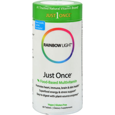 Rainbow Light Just Once Food-Based Multivitamin - 60 Tablets