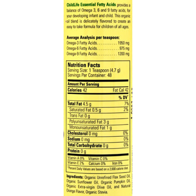 Childlife Essential Fatty Acids Natural Orange - 8 fl oz