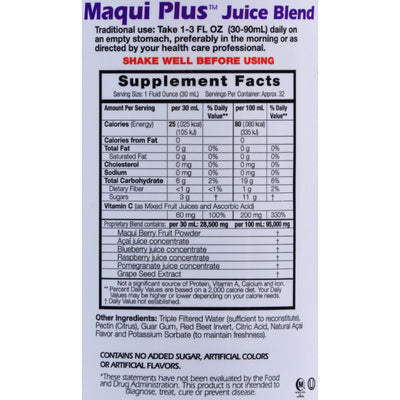 Dynamic Health Maqui Plus Juice Blend - 32 fl oz