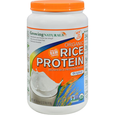 Growing Naturals Rice Protein Powder - Original Flavor - 32.4 oz