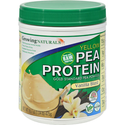 Growing Naturals Yellow Pea Protein - Vanilla Blast - 16 oz
