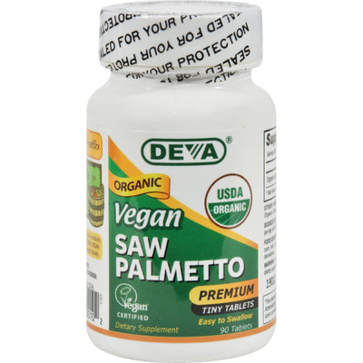Deva Vegan Vitamins Vegan Saw Palmetto - 490 Mg - 90 Tablets