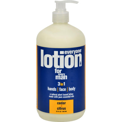 EO Products Everyone Lotion - Men Cedar and Citrus - 32 oz