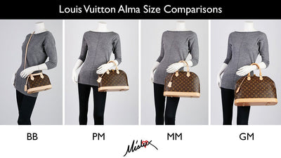 LOUIS VUITTON BAG SIZE GUIDE - BB vs PM vs MM vs GM