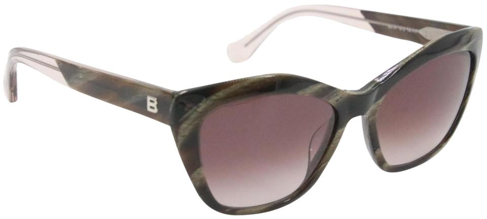 Balenciaga Black Grey Gradient Smoke Cat-eye Acetate Women's Ba47 Sunglasses