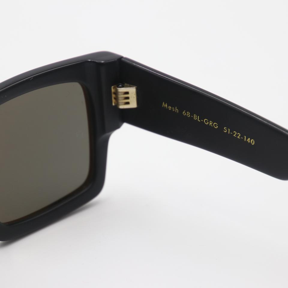 Black Grey Gradient Mesh Square Acetate 68-bl-grg Sunglasses