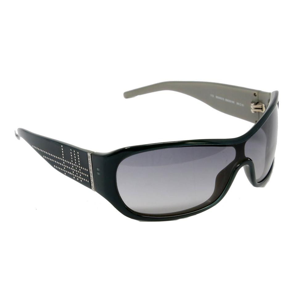 Burberry Blue Classic Studded Wrap Around By Safilo Sunglasses