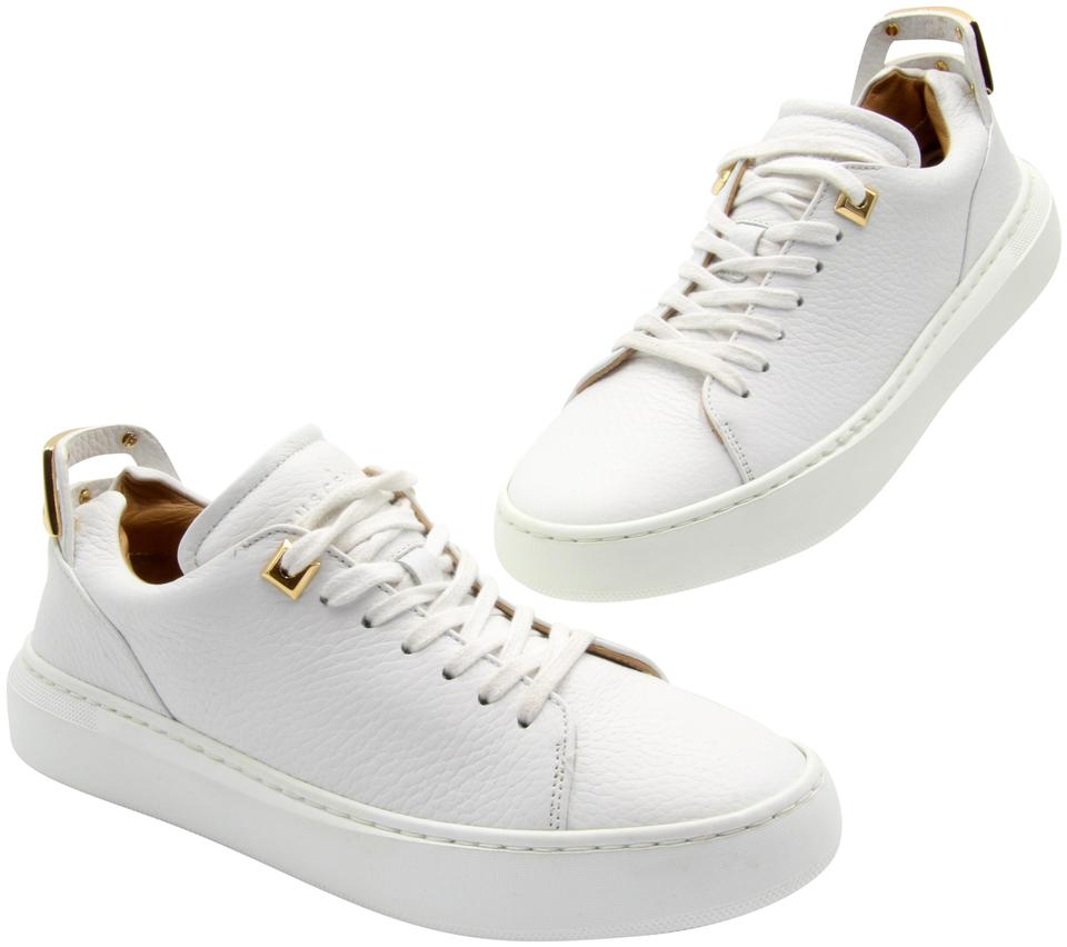 Buscemi White Ligh-top Womens Trainers Gold Hardware 36 Sneakers