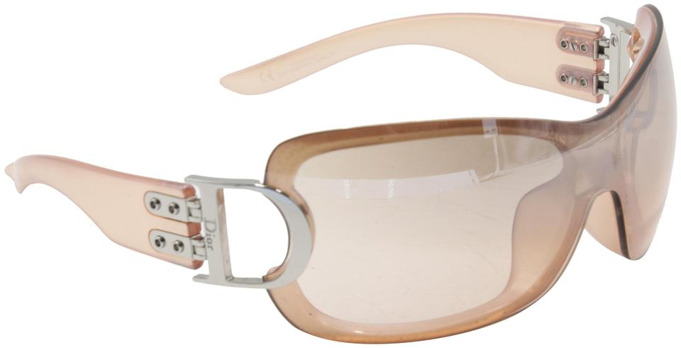 Dior Light Pink Metallic Pearl Airspeed Aunfl Sunglasses