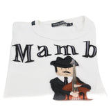 Dolce&Gabbana White Mambo Musician Embroidered Patch Men's Short-sleeve S Tee Shirt