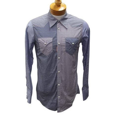 Dsquared2 Blue Men's Winter Fall Long Sleeve Button Down Formal Size 48 Shirt