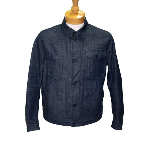 Dsquared2 Dark Blue Classic Dq2 Men's Button Down It/Fr Jacket