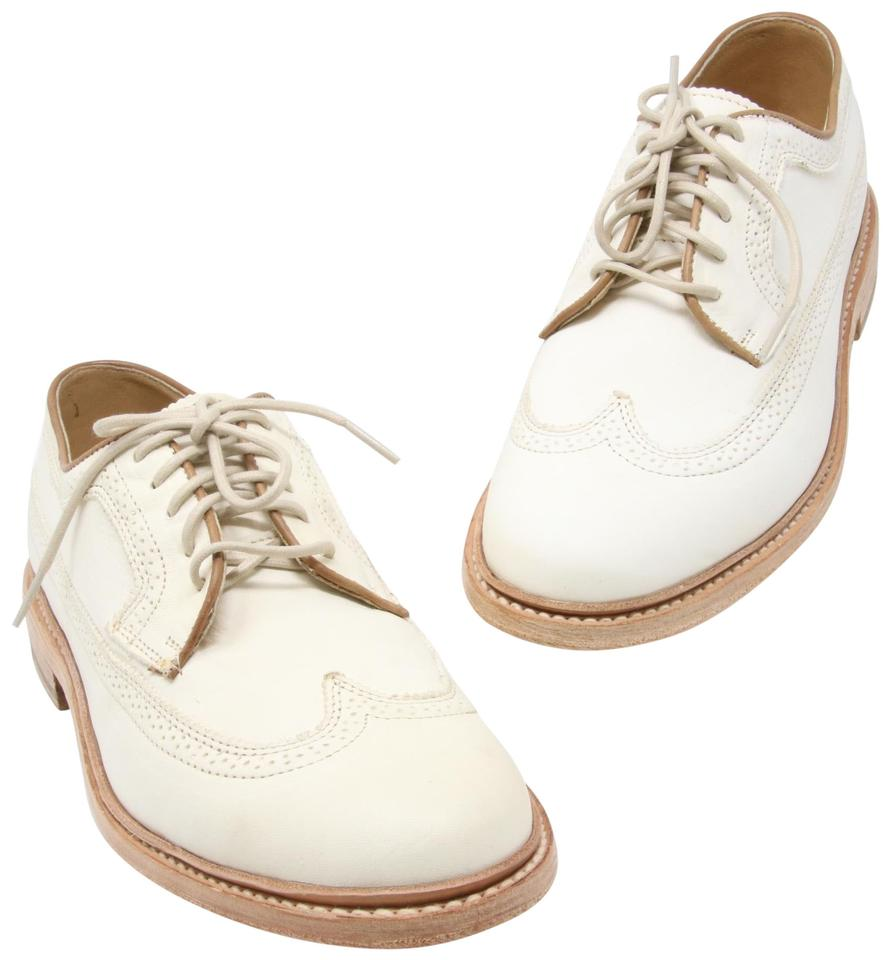 Frye Off White Men's James Wingtip Antiqued /Polished Leather Dress John A Formal Shoes
