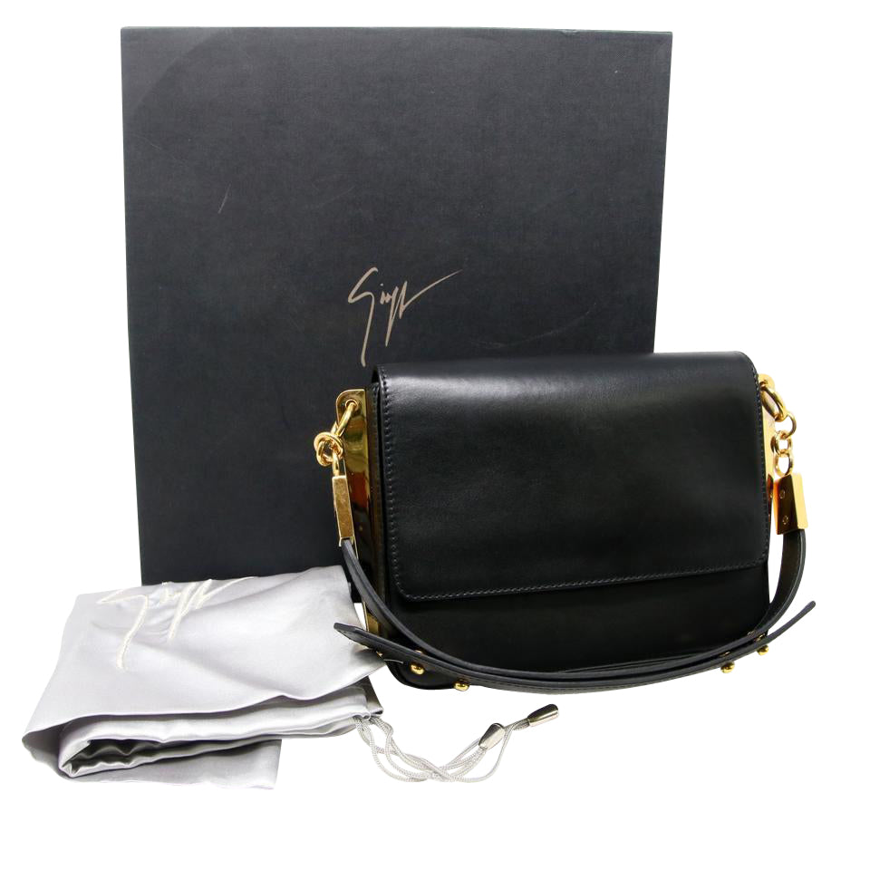 Giuseppe Zanotti Acapulco Leather Shoulder Bag