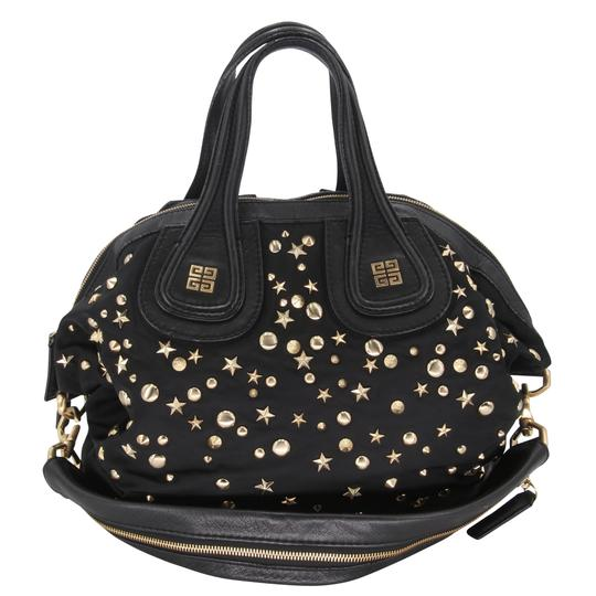 Givenchy Studded Nightingale Convertible Black Nylon Satchel