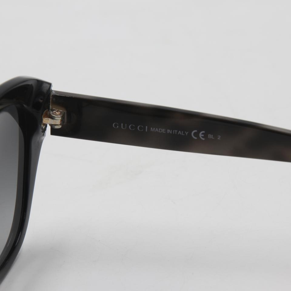 Gucci Black Gs 3782/S Cat Eye Made In Italy Sunglasses