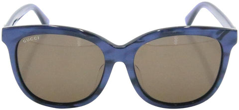 Gucci Blue Brown Gradient Women's Gg 0082sk Oversized Round Sunglasses