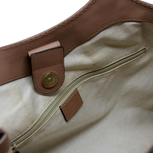 Sukey Hobo Brown Monogram Canvas Shoulder Bag