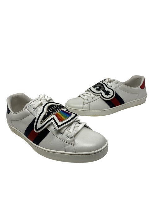 White Ace Gg Spaceship Removable Patch Panther Low Tops Sneakers