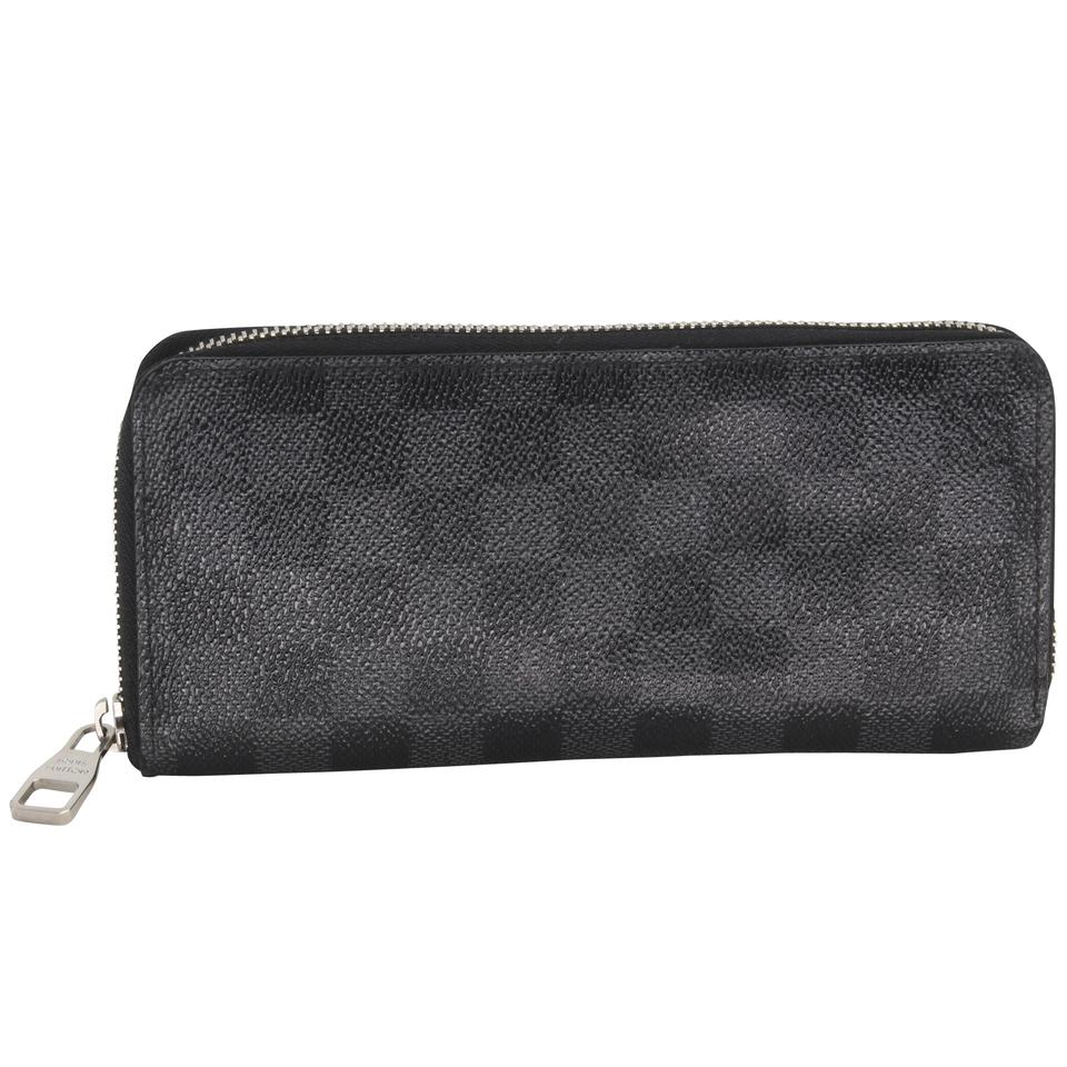 Louis Vuitton Black Damier Graphite Coated Canvas Zip Around Wallet