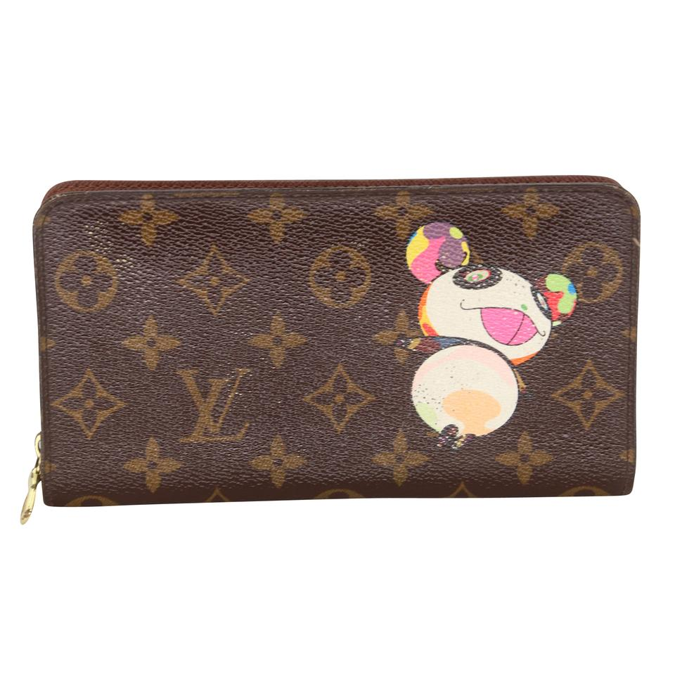 Louis Vuitton Brown Zippy Gm Signature Takashi Murakami Panda Long Wallet