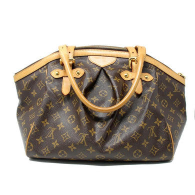 Louis Vuitton Tote Tivoli Gm Leather Brown Shoulder Bag