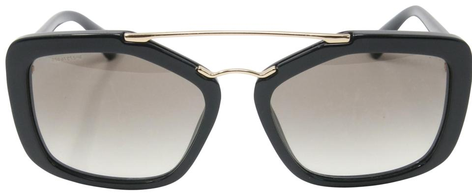 Prada Black Classic Pilot Cinema Gold Frame Wire Spr 24r Sunglasses