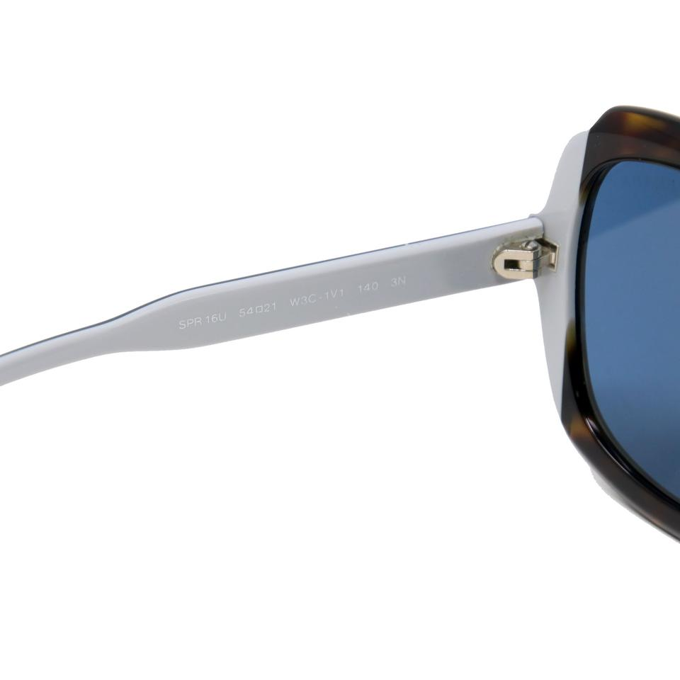 Prada Multicolor Black + Astral Blue + Chalky White Tortoiseshell Oversized Sunglasses
