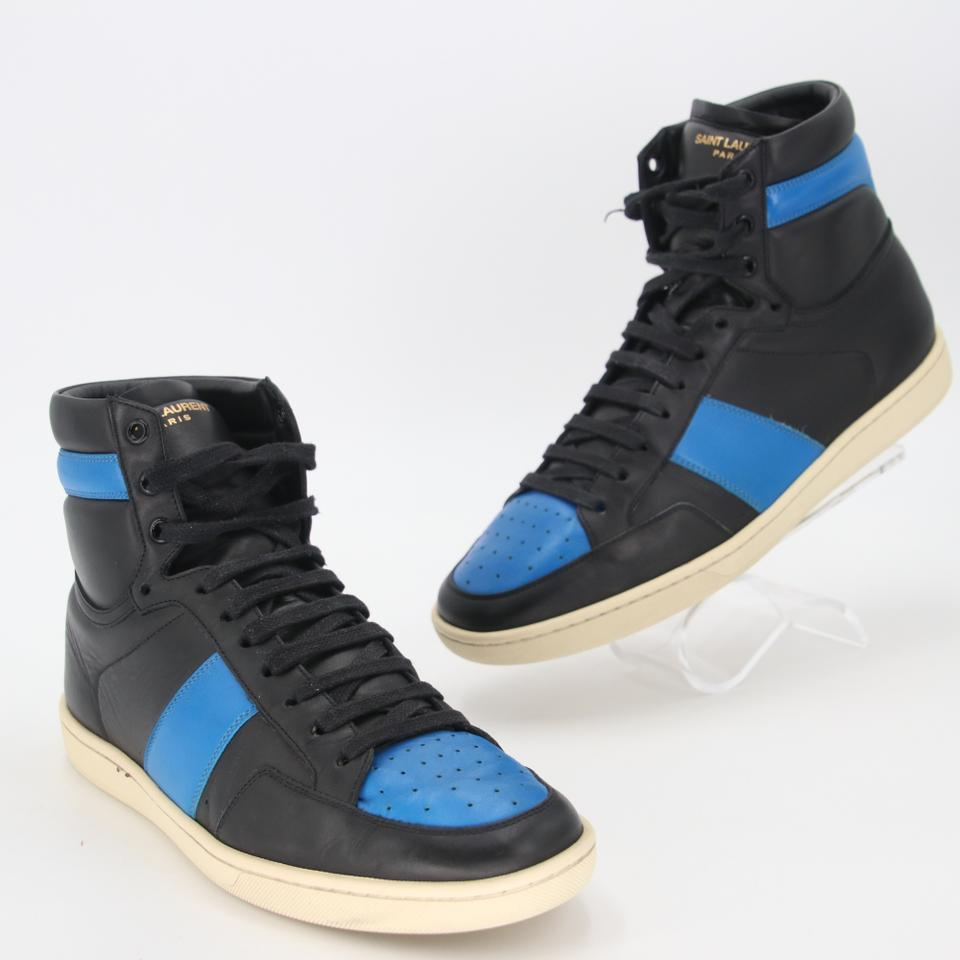 Saint Laurent Calfskin Leather Padded High Top Men's Sneakers Size 42