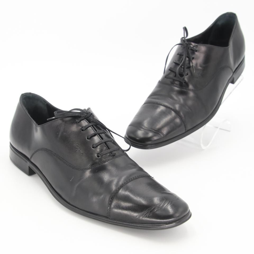 Salvatore Ferragamo Black Remigo Captoe Leather Oxford Shoes