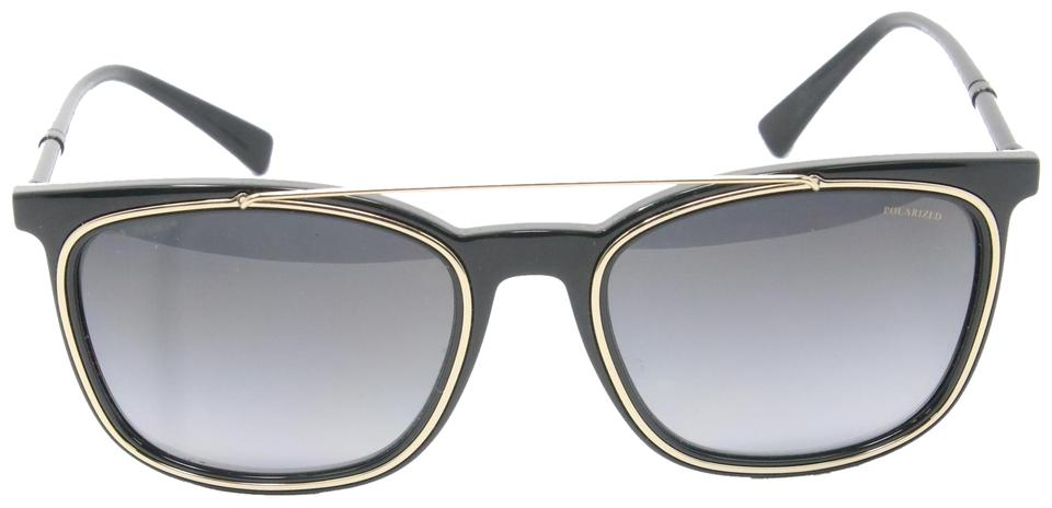 Versace Black Classic Gold Square Pilot Greek Key Pattern 4335 Sunglasses