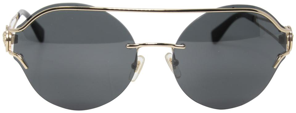 Versace Round Double Bridge Medusa Logo 2184 The Manifesto Sunglasses