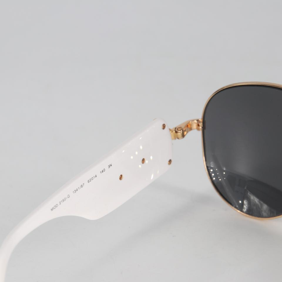 Versace White Mod 2150-q Medusa Aviator Made In Italy Sunglasses