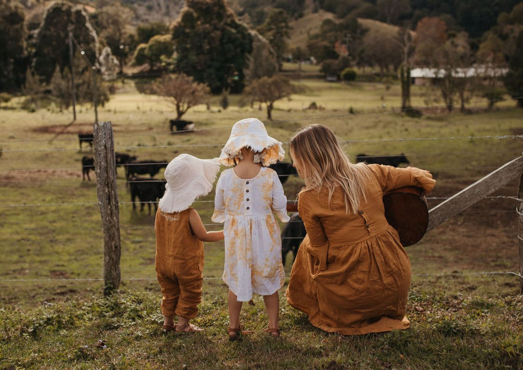 kids linen baby boho clothes and tie dye kids clothes