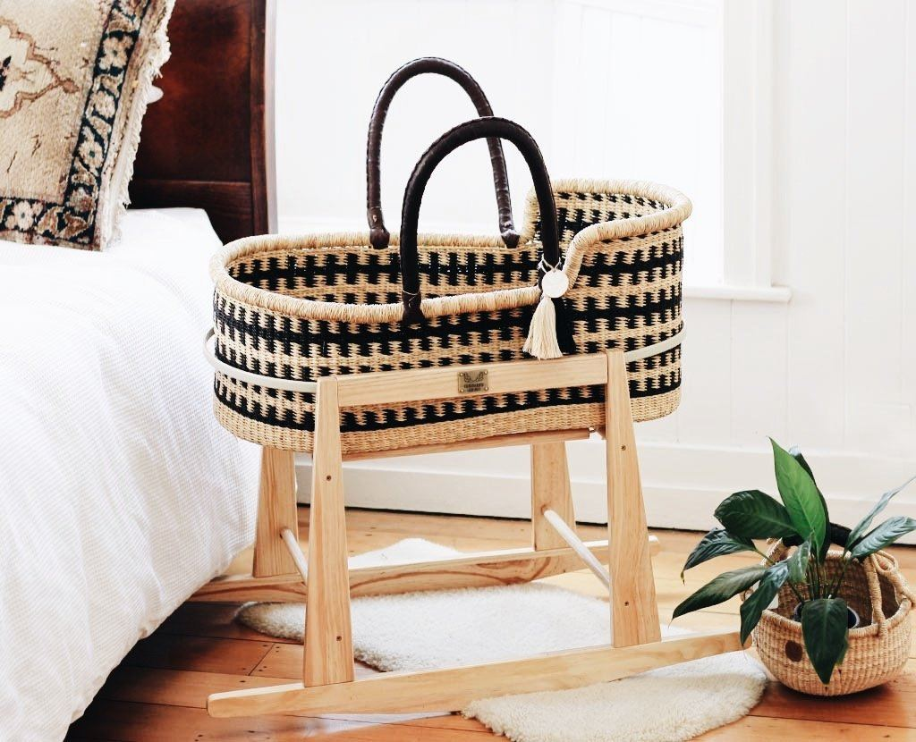 'Alchemy' Moses Basket  - (mattress included)