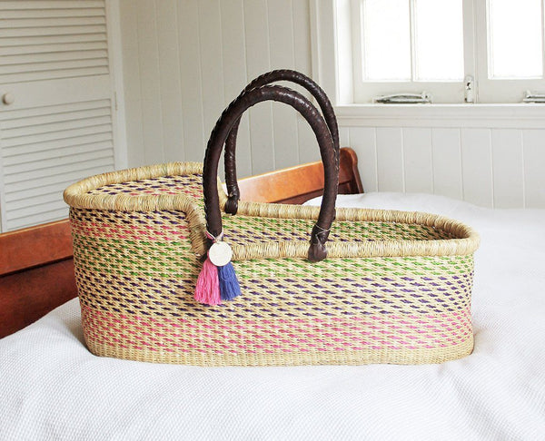 'Wildflower' Moses Basket  - (mattress included)