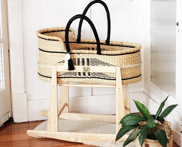 'Folktown' Moses Basket  - (mattress included)