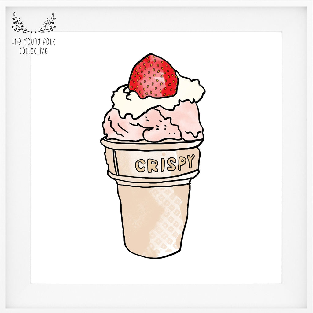 'Strawberry Sundae' Print