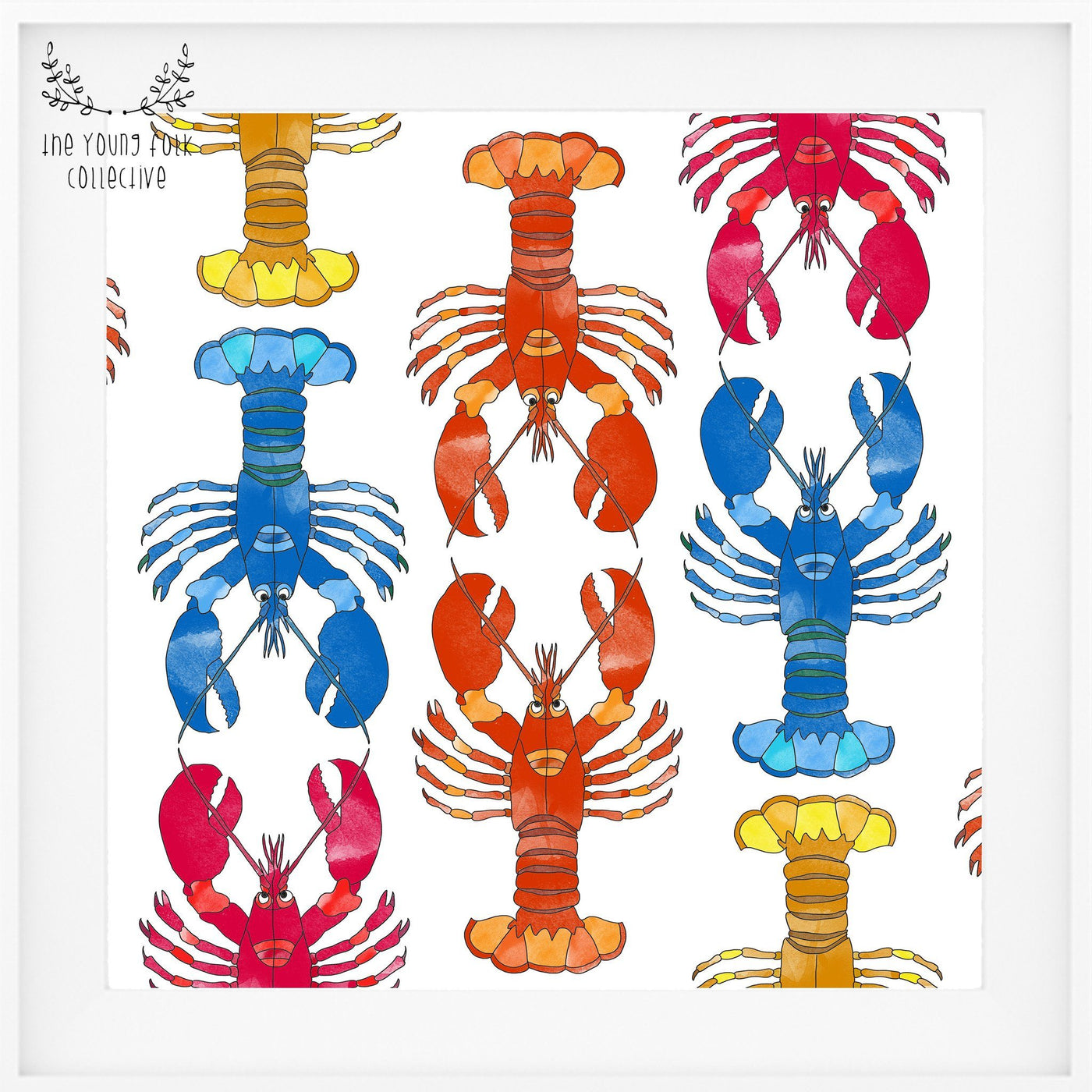 nursery print lobsters