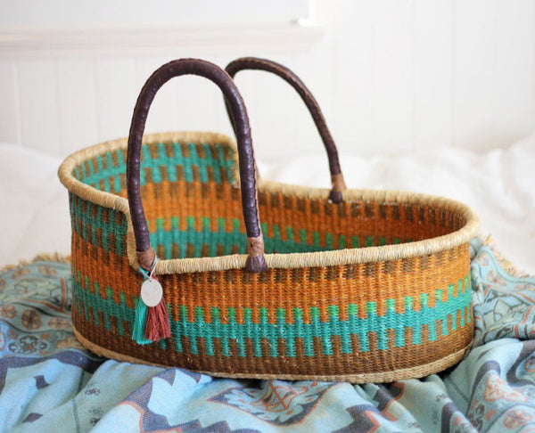 'Forest' Moses Basket  - (mattress included)