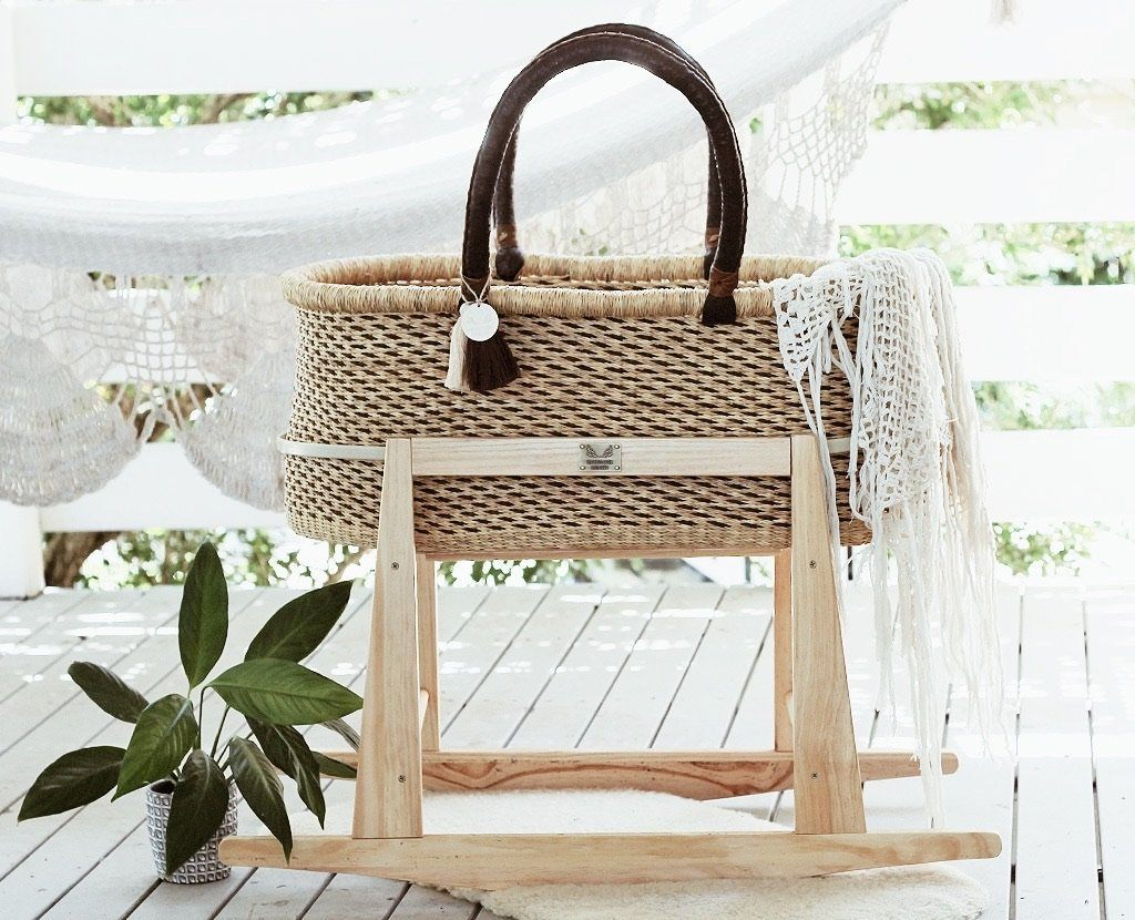 Boho Moses basket with stand